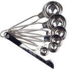 YAZHUO 6 In 1 Stainless Steel Measuring Spoons Set - Silver