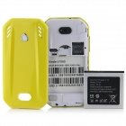 "F599 Android 4.0.3 GSM Bar Phone w/ 3.5"" Capacitive Screen, Quad-Band and Wi-Fi - Black + Yellow"