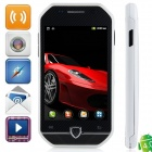 "F599 Android 4.0.3 GSM Bar Phone w/ 3.5"" Capacitive Screen, Quad-Band and Wi-Fi - Black + White"