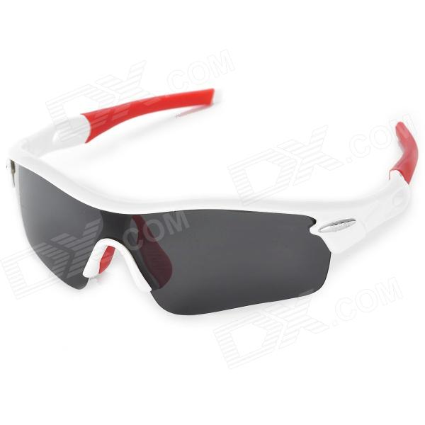 T-Rex 9331 Outdoor Cycling Polarized UV400 Protection Sunglasses - White + Red