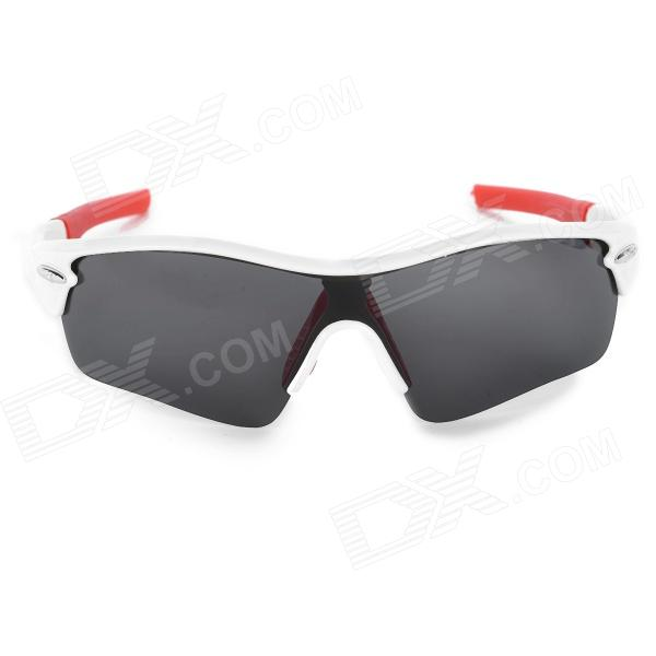 097c8b56a6d T-Rex 9331 Outdoor Cycling Polarized UV400 Protection Sunglasses - White +  Red