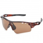 CARSHIRO 7108 Cycling Polarized UV400 Protection Sunglasses - Brown + Black