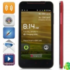 "KVD X920e Android 4.1.1 GSM Bar Phone w/ 5.0"" Capacitive Screen, Quad-Band and Wi-Fi - Black + Red"
