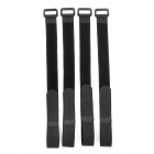 KX-38 Nylon Velcro Cable Tie - Black (4 PCS)