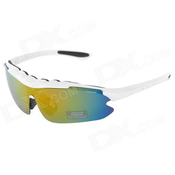 CARSHIRO 9124 Outdoor Cycling Polarized UV400 Protection Sunglasses - White