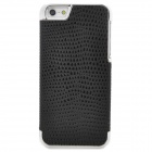 Fashion Snake Electroplate Skin Leather Cover Plastic Back Case for Iphone 5 - Black