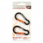 RYDER Calabash Shaped Anodizing Aluminum Alloy Quick Release Carabiner - Black (2 PCS)