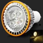 GU10 5W 85lm 3500K 5-LED Warm White Light Bulb - Silver + Golden (220V)