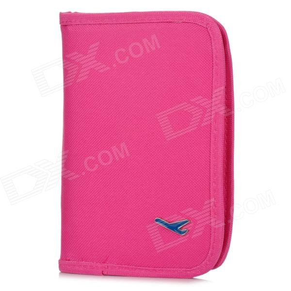 Monopoly Multifunctional Polyethylene Travel Passport Cards Storage Bag - Deep Pink