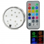 YFY-2018 10-LED RGB Water Resistant Electronic Candle w/ Remote Controller - Transparent (3 x AAA)