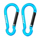 RYDER Calabash Shaped Anodizing Aluminum Alloy Quick Release Carabiner - Blue (2 PCS)