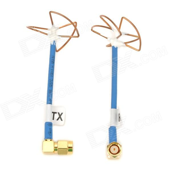 ZnDiy-BRY TXRX-1 FPV Aerial Photo 5.8GHz RP-SMA 3-Blade / 4-Blade Antennas (2 PCS) zndiy bry y 4 4mm y shaped air pneumatic quick fitting push in connectors blue black 10 pcs