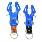 RYDER Camping & Hiking Carabiner Hook Clip w/ Key Ring - Blue (2 PCS / Size L / XL)