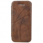 Protective PU Leather Case for Iphone 5 - Brown