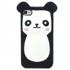Buy Cute Cartoon Bear Style Protective Soft Silicone Back Case Iphone 4 / 4S - White + Black