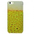 Fashion 2D Hubble-Bubbles Protective Electroplating PC Back Case for Iphone 5 - Yellow + White