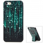 Flashing Point Patterns Protective Plastic Back Case w/ Stand for Iphone 5 - Black + White