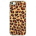 Cool Leopard Style Protective Plastic Back Case for iPhone 5 - Yellow + Black + Brown