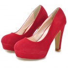Fashion Suede High-heeled Shoes for Women - Red (39#)