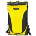 Camel Hump Raised Style Motorcycle Backpack w/ Rainproof Cover - Yellow + Black