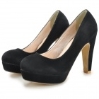 Fashion Suede High-heeled Shoes for Women  - Black (39#)