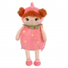 CMB0903 Strawberry Cartoon Style Double-Shoulder Backpack - Pink + Beige + Brown