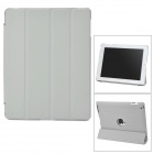 Protective PU Leather Case for iPad 3 / 4 - Grey