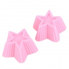 Five-Pointed Star Style Cake DIY Molds - Pink (2 PCS)