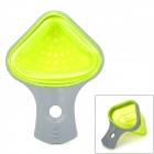 Silicone Water Filter Spoon for Noodles - Grey + Green