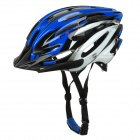 SMS S-5 Stylish PC + EPS Bicycle Cycling Safety Helmet - White + Blue