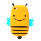 GOMI Cute Cartoon Bee Style Protective Silicone Back Case for Iphone 5 - Orange