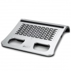 USB 2.0 Bass 2-Channel Speaker w/ Cooler Stand for Laptop - Grey + Black