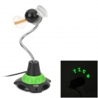 PZCD PZ-20 USB Powered Editable 11-LED Green Light Flexible Fan Cooler