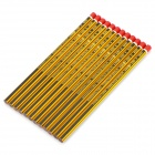 Chung Hua 6181 Wooden + Lead Core HB Pencils Set - Yellow + Black + Red (12 PCS)