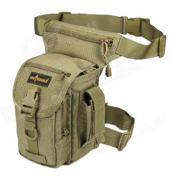 FREE SOLDIER YTB216 Multifunction Outdoor Sport Nylon Waist / Leg Bag - Mud Color (6L)