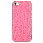 Crocodile Skin Style Protective Back Case for Iphone 5 - Pink