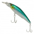 Lifelike Fish Style Fishing Bait Hook - Green + Silver