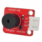 KEYES Active Buzzer Sound Module for Arduino - Red + Black