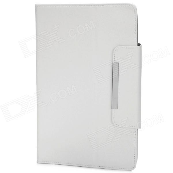 Universal Protective PU Leather Case Cover for 9 Tablet PC - White universal silicone case for screen 7 9 9 tablet pc all round protective cover kickstand flexible rubber silicon shell coque