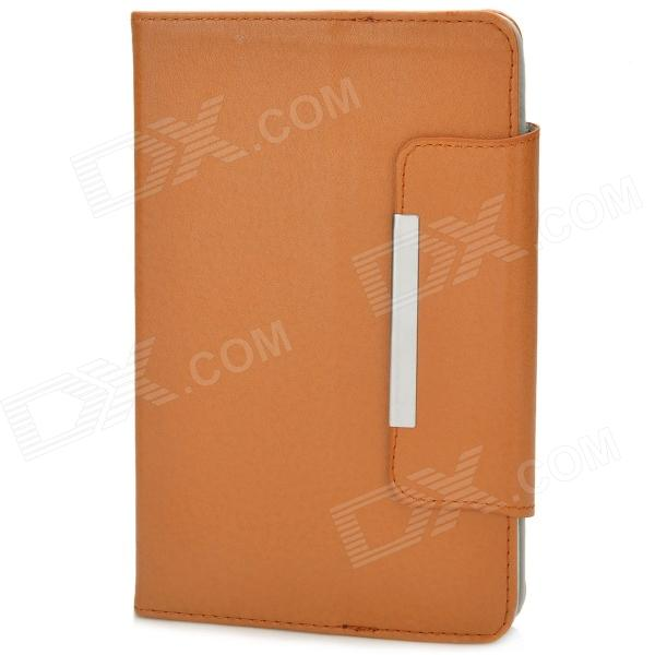 "Protective PU cubierta de cuero universal para 7 ""Tablet PC - Orange Brown"