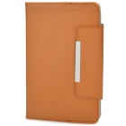"Universal Protective PU Leather Case Cover for 7"" Tablet PC - Orange Brown"