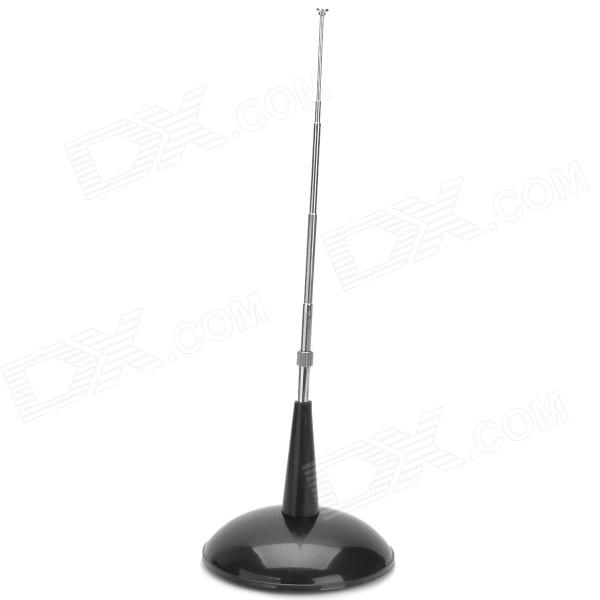 PS-038 Car Decorative Plastic Antenna w/ Stand - Black + Silver yi 229 diy plastic car decorative stickers silver grey 6 pcs