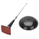 W PS 038-Car Antenna plástico decorativo / Stand - Negro + Plata