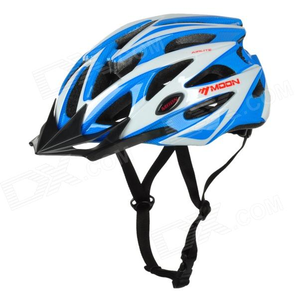 MOON BH-29 Stylish PC + EPS Bicycle Safety Helmet for Cycling - White + Blue велошлем moon bh 29 w bh 29 w