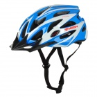MOON BH-29 Stylish PC + EPS Bicycle Safety Helmet for Cycling - White + Blue