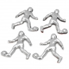 HS-119-4 Football Man Style Plastic Car Body Stickers Set - Silver (4 PCS)