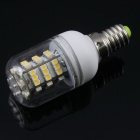 TZY T058022 E14 3.8W 260lm 3500K 54-SMD 3528 LED Warm White Light Lamp Bulb - White (85~265V)