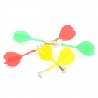 Plastic Powerful Magnetic Darts - Red + Yellow + Green (6 PCS)