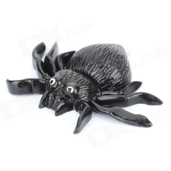 Shock-Your-Friend Soft Rubber Lifelike Spider - Black