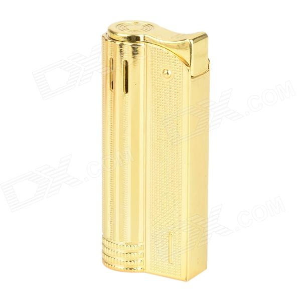 Classic Retro Style Windproof Zinc Alloy Butane Jet Lighter - Golden